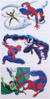 Lot of (3) Spider-Man 6.5x10 Serigraph Animation Cels