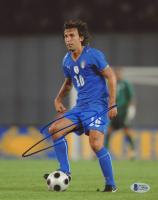 Andrea Pirlo Signed Team Italy 8x10 Photo (Beckett COA)