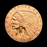 1927 $2.50 Indian Head Quarter Eagle Gold Coin
