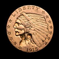 1915 $2.50 Indian Head Quarter Eagle Gold Coin at PristineAuction.com