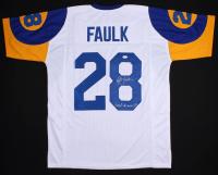 "Marshall Faulk Signed Rams Jersey Inscribed ""Last To Wear 28"" (JSA Hologram)"