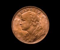 1947-B Swiss Helvetia 20 Francs Gold Coin