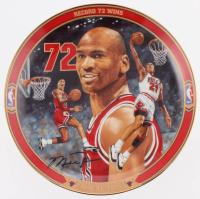 "Michael Jordan ""Record 72 Wins"" Limited Edition Upper Deck Porcelain Plate"