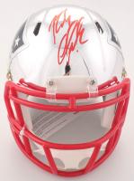 Rob Gronkowski Signed Patriots Chrome Mini Speed Helmet (Beckett COA)