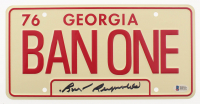"Burt Reynolds Signed ""Smokey and the Bandit"" Georgia License Plate (Beckett COA) at PristineAuction.com"