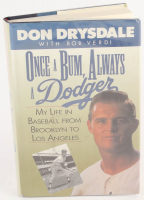 """Don Drysdale Signed """"Once a Bum, Always a Dodger"""" Hardcover Book (PSA LOA) at PristineAuction.com"""