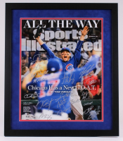 2016 Chicago Cubs World Series 20x24 Custom Framed Limited Edition Photo Display Team-Signed by (20) with Kyle Hendricks, Javier Baez, Dexter Fowler, Anthony Rizzo, Kris Bryant (Fanatics Hologram & MLB Hologram)