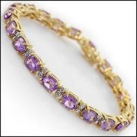 13.48 CT Amethyst & Diamond Designer Bracelet