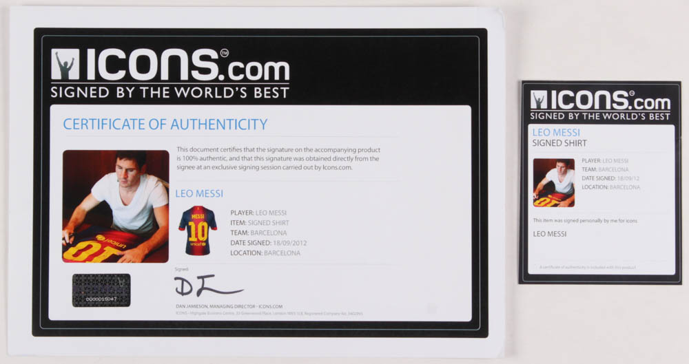92d1204a2 Lionel Messi Signed Barcelona Jersey (Icons COA) at PristineAuction.com