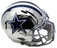 Emmitt Smith Signed Cowboys Full-Size Chrome Speed Helmet (Prova Hologram)