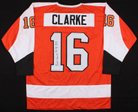 "Bob Clarke Signed Flyers Jersey Inscribed ""74 75 SCC""  (JSA COA)"