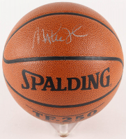 Magic Johnson Signed Basketball (PSA COA) (Imperfect)