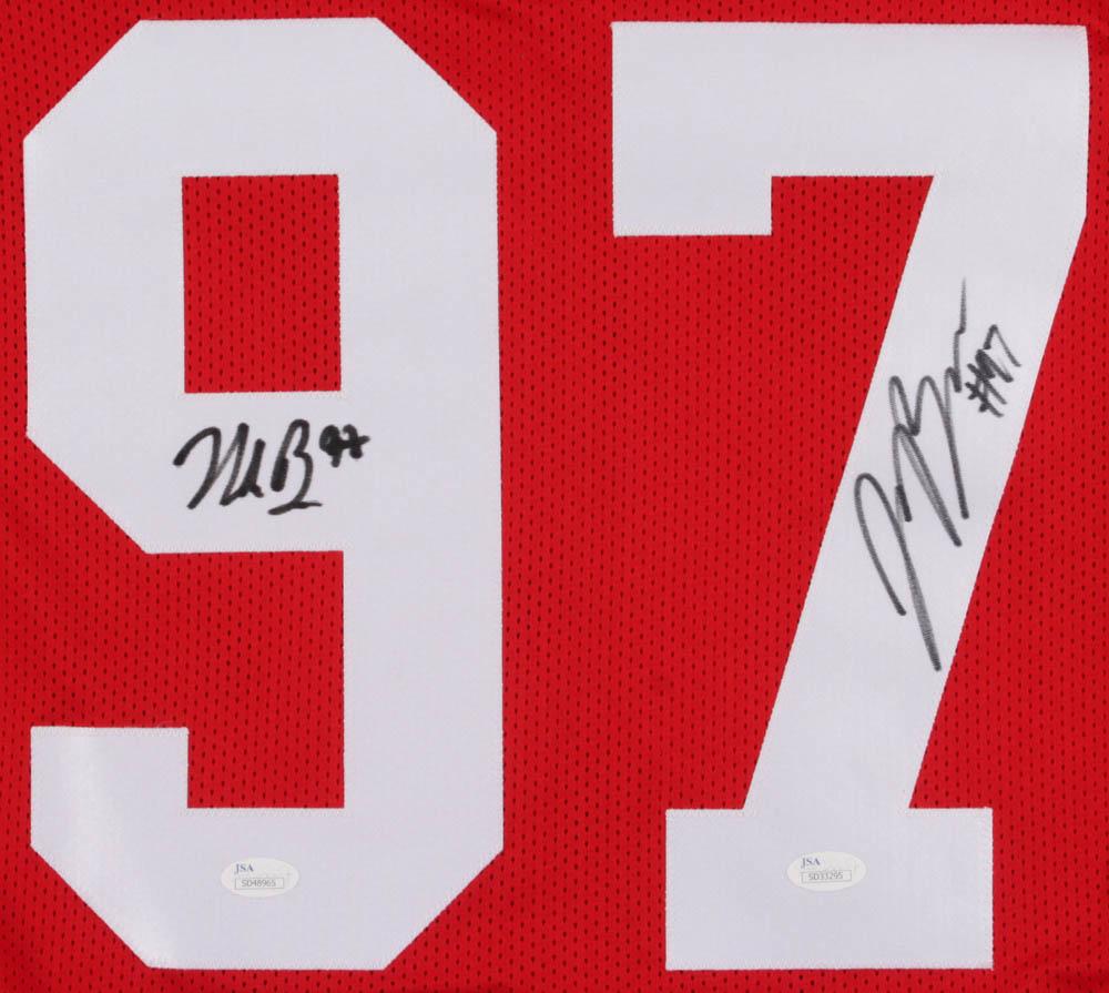 eb033861a Nick Bosa   Joey Bosa Signed Ohio State Buckeyes