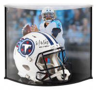"Marcus Mariota Signed Titans Full-Size Authentic On-Field Speed Helmet Inscribed ""2015 1st RD Pick"" with Custom Acrylic Curve Display Case (Steiner COA)"