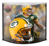 Brett Favre Signed Packers Full-Size Authentic On-Field Helmet With Custom Acrylic Curve Display Case (Steiner COA)