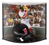 Mookie Betts Signed Red Sox Full-Size Batting Helmet With Custom Acrylic Curve Display Case (Fanatics Hologram)