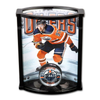 Connor McDavid Signed Edmonton Oilers Acrylic Puck with Custom Acrylic Curve Display Case (UDA COA) at PristineAuction.com