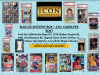Icon Authentic Blue Ice Mystery Box 125+ Cards per Box at PristineAuction.com