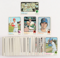 Lot of (100) 1973 Topps Baseball Cards with #70 Milt Pappas, #84 Rollie Fingers, #175 Frank Robinson, #275 Tony Perez