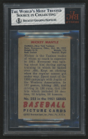 1951 Bowman #253 Mickey Mantle RC (BVG 4) at PristineAuction.com
