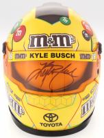 Kyle Busch Signed 2018 NASCAR M&M 1:3 Scale Mini-Helmet (PA COA)