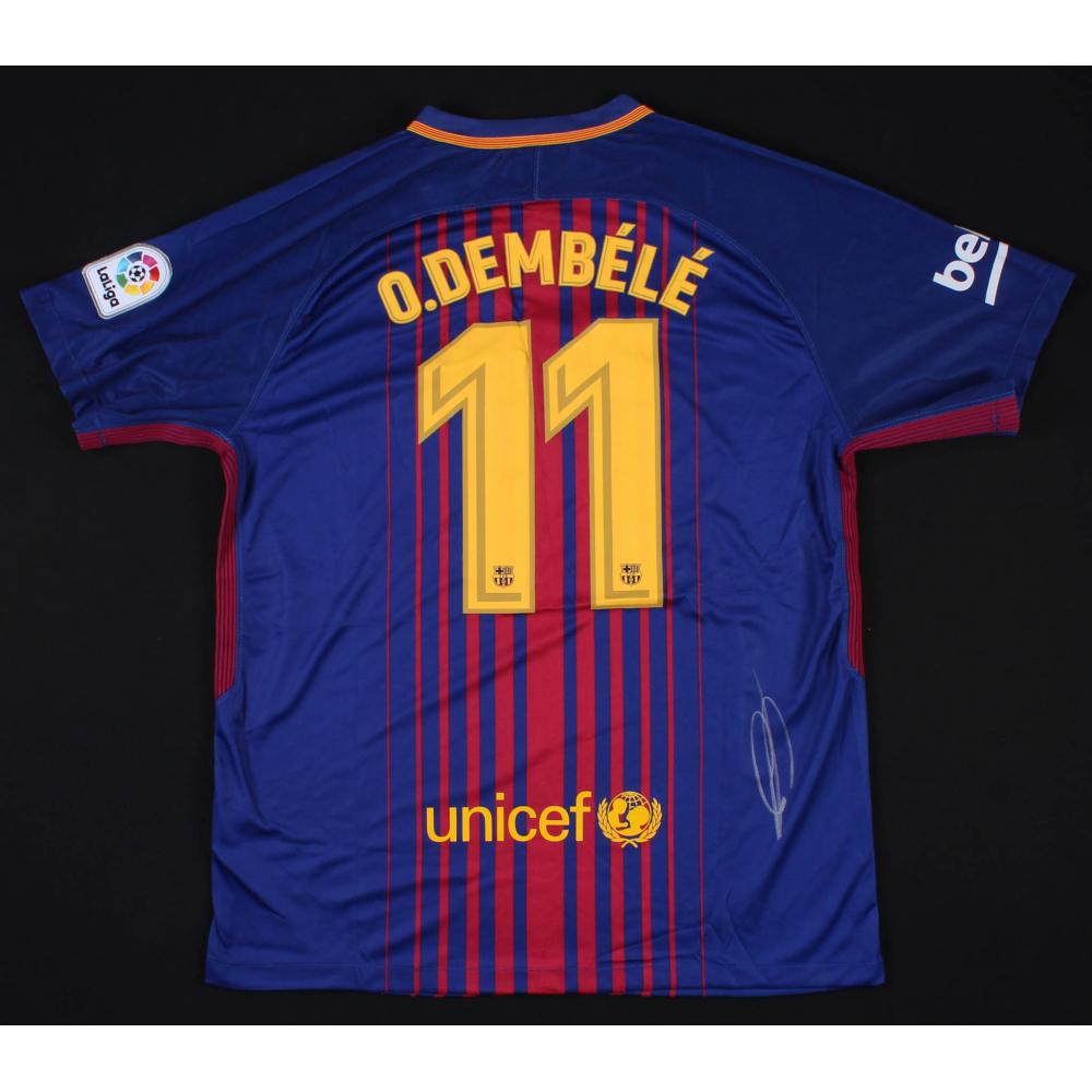 c1ea7a987 Ousmane Dembele Signed Barcelona Nike Jersey (Beckett COA)