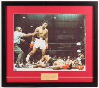 Muhammad Ali Signed 23x26 Custom Framed Cut Display (JSA Encapsulated)