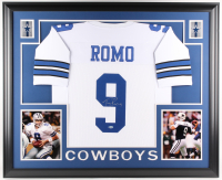 Tony Romo Signed Cowboys 35x43 Custom Framed Jersey (Beckett COA)