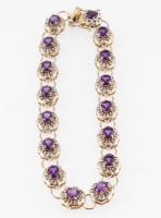 15.89 CT Amethyst & Diamond Designer Bracelet