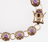 15.89 CT Amethyst & Diamond Designer Bracelet at PristineAuction.com