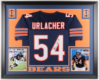 Brian Urlacher Signed Chicago Bears 35x43 Custom Framed Jersey (JSA COA) at PristineAuction.com