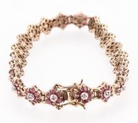 17.88 CT Ruby & Diamond Designer Bracelet
