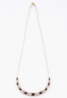 12.28 CT Garnet & Diamond Elegant Necklace