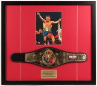 Julio Cesar Chavez Signed Ringside 24x27 Custom Framed Replica Belt Display (PSA COA)