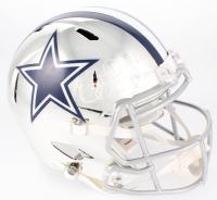 Ezekiel Elliott Signed Cowboys Full-Size Chrome Speed Helmet (Beckett COA) at PristineAuction.com