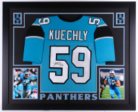 Luke Kuechly Signed Carolina Panthers 35x43 Custom Framed Jersey (JSA COA)