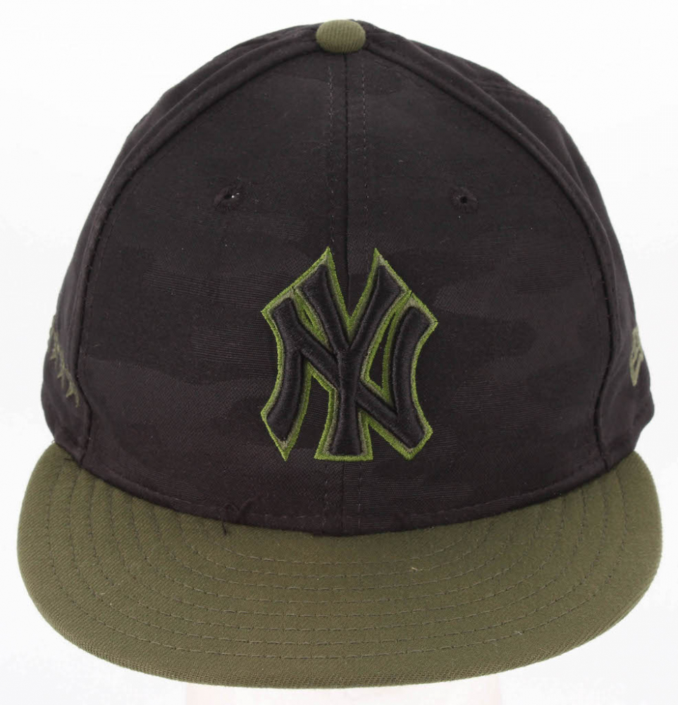 779089d6 Aaron Judge 2018 Game-Used Yankees Memorial Day New Era Fitted Baseball Hat  (Steiner LOA & MLB Hologram)