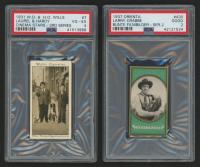 "Lot of (2) PSA Graded Tobacco Cards with 1931 Will's ""Cinema Stars"" #7 Stan Laurel / Oliver Hardy (PSA 4) & 1937 Orienta ""Bunte Filmbilder"" #430 Buster Crabbe (PSA 2)"