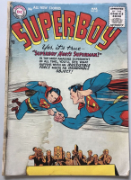 "1956 DC 1st Series ""Superboy Meets Superman"" #47 Comic Book"