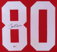 Jerry Rice Signed San Francisco 49ers 35x43 Custom Framed Jersey (Beckett COA) at PristineAuction.com