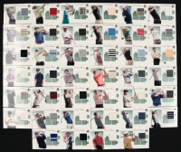 2002 SP Authentic Course Classics Game-Used Shirt Near-Complete Set of (40/42) Golf Cards with #CCTW Tiger Woods, #CCSG Sergio Garcia, #CCJN Jack Nicklaus