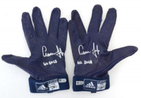 "Pair of (2) Aaron Judge Signed Game-Used Adidas Batting Gloves Inscribed ""GU 2018""  (Fanatics Hologram & MLB Hologram)"