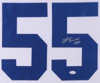 Leighton Vander Esch Signed Dallas Cowboys 35x43 Custom Framed Jersey (JSA COA) at PristineAuction.com
