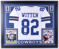 Jason Witten Signed Dallas Cowboys 35x43 Custom Framed Jersey (JSA & Witten Hologram)