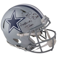 "Ezekiel Elliott Signed Cowboys Full-Size Authentic On-Field Speed Helmet Inscribed ""America's Team"" (Fanatics Hologram)"