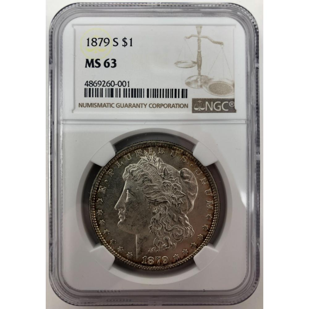 1879 Silver Morgan Dollar NGC MS 63