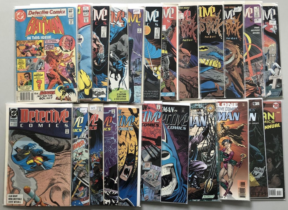 Lot of (24) DC Detective Comics Batman 1st Series Comic Books at PristineAuction.com