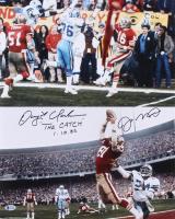 "Dwight Clark & Joe Montana Signed 49ers 16x20 Photo Inscribed ""The Catch"" & ""1-10-82"" (Beckett COA) at PristineAuction.com"
