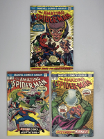 Lot of (3) 1974-75 Marvel Amazing Spider-Man 1st Series Comic Books with #138, #141 & #142