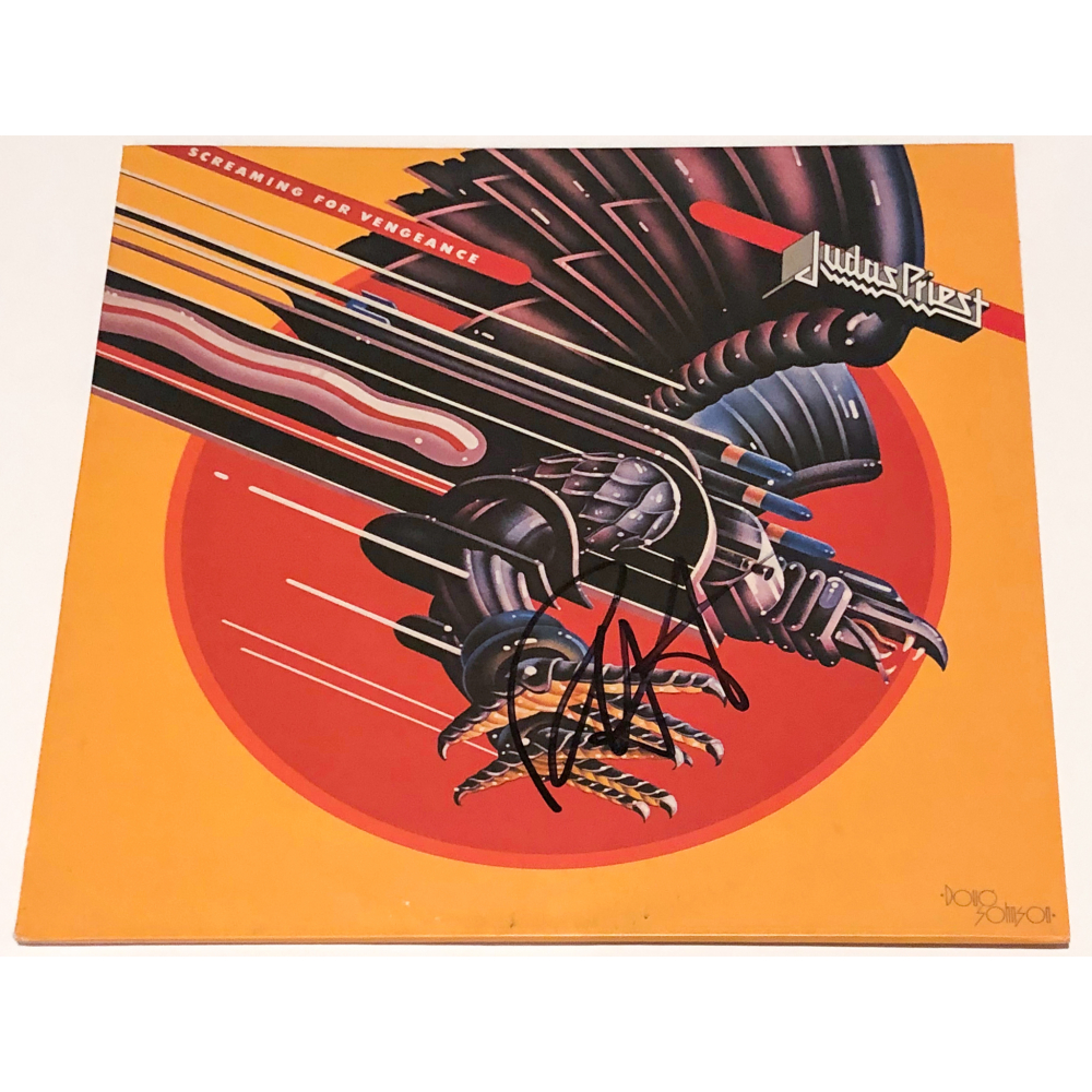 Rob Halford Signed Judas Priest Screaming For Vengeance Vinyl
